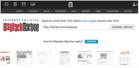 wayback machine homepage