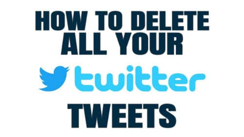 How to Mass Delete all of your Tweets