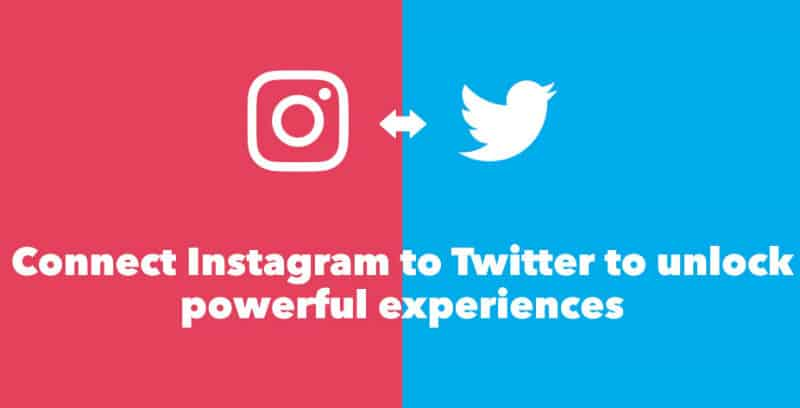 how to link twitter to instagram