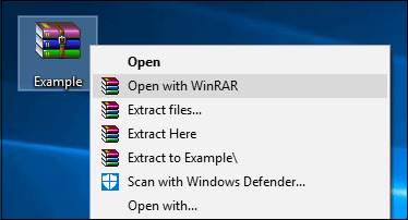 Extract Data with Winrar