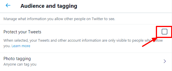 protect your tweets to set twitter to private