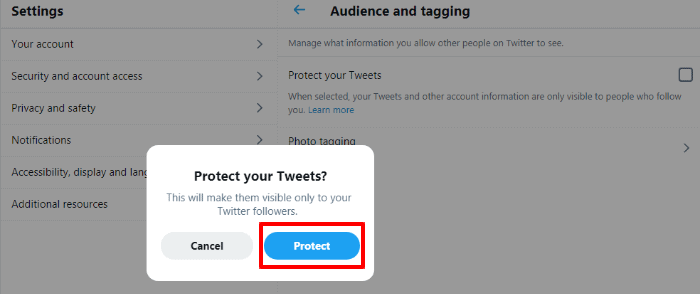 twitter private profile