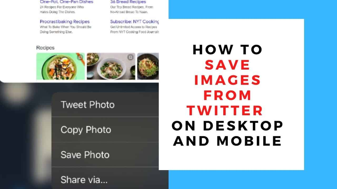 How to Save Images From Twitter on Desktop and MobileHow to Save Images From Twitter