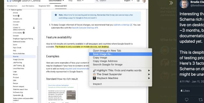 Save Images from Twitter on chrome browser