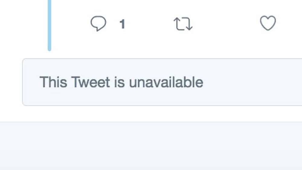 what does this tweet is unavailable mean