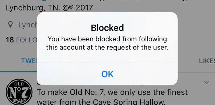 You have been blocked