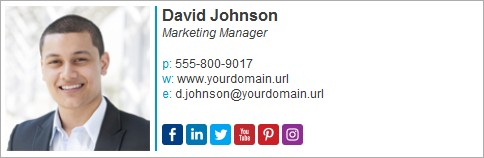 add your Twitter handle in your email signature
