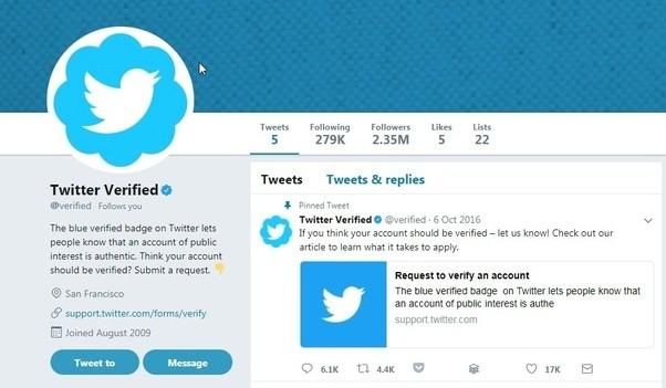 get verified on twitter